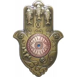 Mezuzah w/Crystals 19 cm Brown