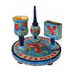 Tallit Set - Machine Embroidery - Flowers - Maroon
