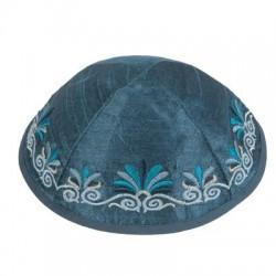 Tallit Set - Machine Embroidery - Jerusalem - Silver + Gold