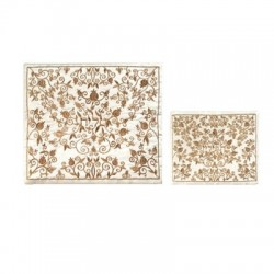 Tallit Organza Embroidered Stripes - White