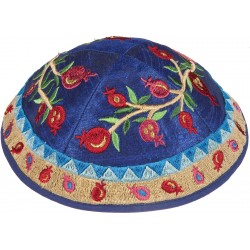 Kippah - Embroidered - Full Jerusalem - Multicolor