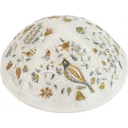Kippah Hand Embroidered - Birds