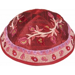 Hat  - Embroidered - Flowers Full