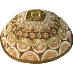 Hat  - Embroidered - Pomegranates White