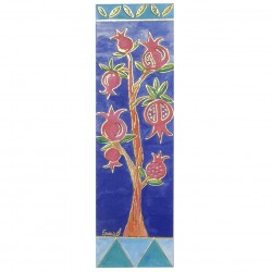 Glass Painted Hamsa - Seven Species
