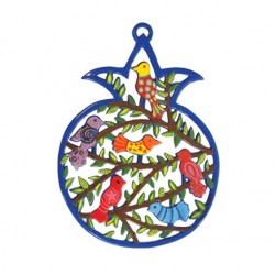 Hand Embroidered Challah Cover- Jerusalem- Silver Oval