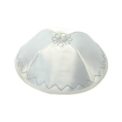 Challah Cover - Full Embroidery - Silver