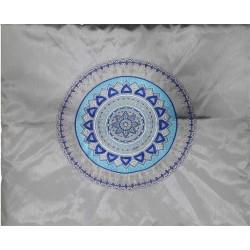 Tfilin Bag - Embroidery + Patches - Jerusalem Gold