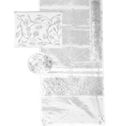 Tfillin Bag - Machine Embroidery - Jerusalem - Blue on White