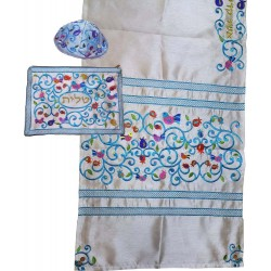 Tallit Bag - Machine Embroidery - Paper Cut - Brown
