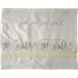 Tallit Bag - Machine Embroidery - Pomegranates - Gold