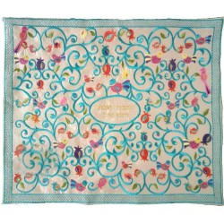 Tfilin Bag - Embroidery - Linen - Dark