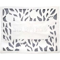 Tfillin Bag - Machine Embroidery - Jerusalem - Multicolor on White