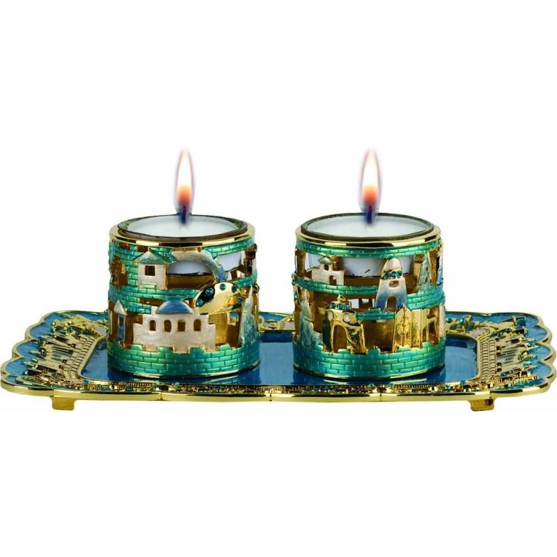 Candle Holders Jerusalem Star Silver 925
