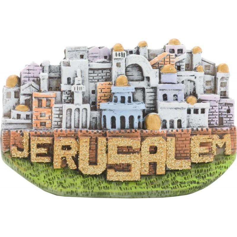 Candle Holder Jerusalem Red
