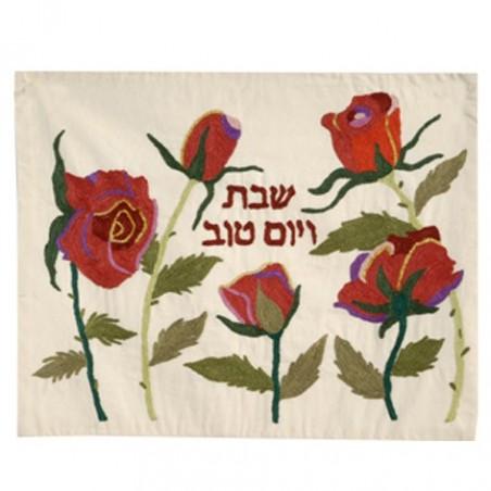 Menorah Jerusalem Enamel Ivory
