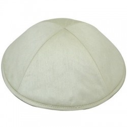 Kippah satin blanc 20cm