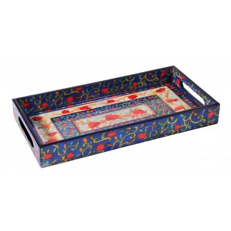 Tfilin Bag - Full Embroidery - Jerusalem - Blue