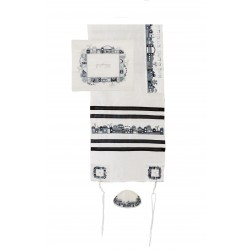 Tallit Bag - Full Embroidery - Jerusalem Multicolor