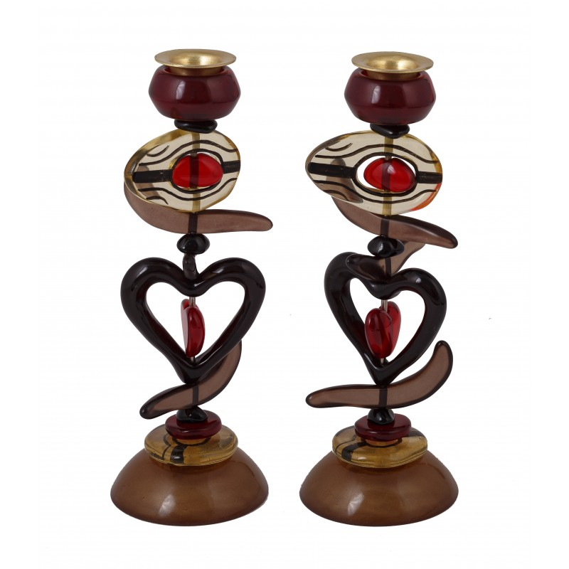 Candlesticks - Polyester - Red Heart 23CM