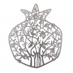 Atara + 4 Corners - Embroidery - Jerusalem + Bracha - White + Silver