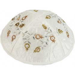 Hand Embroidered Atara - Jerusalem Gold