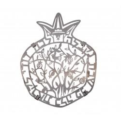 Tallit - Applique + Embroidery - Pomegranates - Maroon