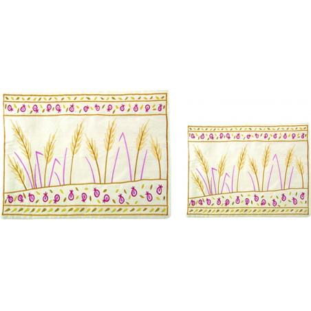 Atara + 4 Corners - Embroidery -  White + Silver