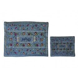 Atara  - Embroidered - Blue