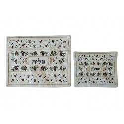 Tallit - Applique + Embroidery - Pomegranates - Multicolor