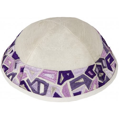 Kippah - Embroidered - Geometry Multicolor
