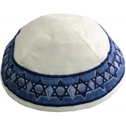 Kippah - Embroidered - Pomegranates - Maroon