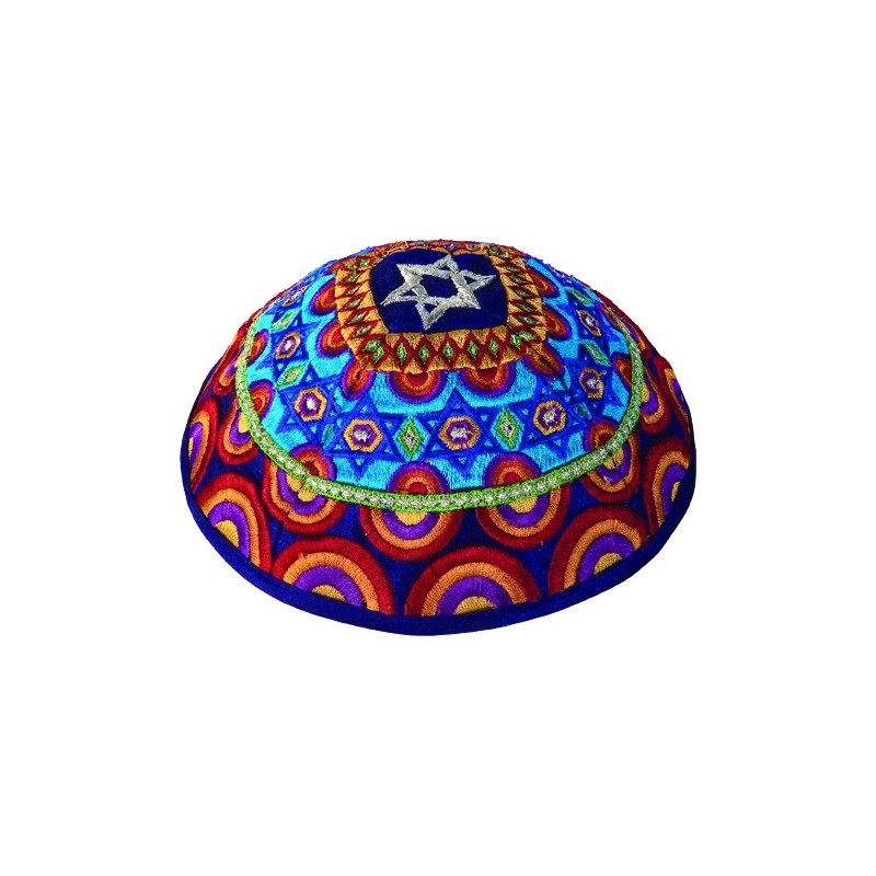 Kippah - Embroidered - Tree of Life  - Gold