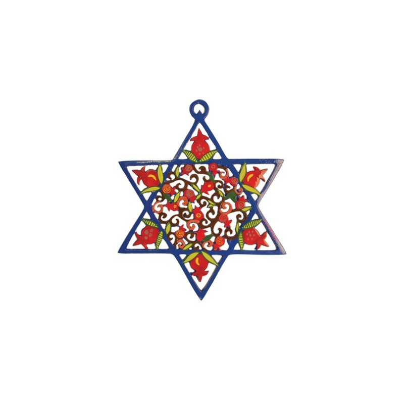 Silk - Painted Challah Cover- Jerusalem- Blue