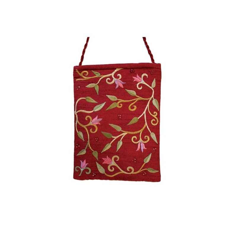 Silk - Painted Challah Cover- Jerusalem- Multicolor