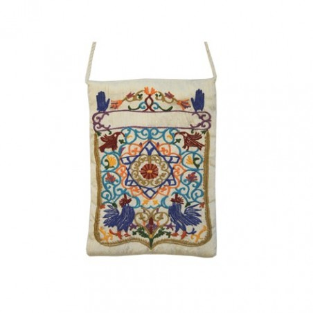 Challah Cover - Full Embroidery - Gold