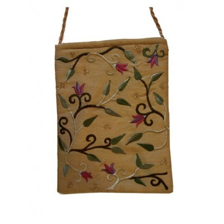Challah Cover - Full Embroidery - Birds - Blue