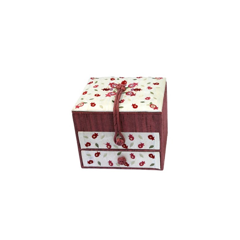 Machine Embroidered Challah Cover -Pomegranates Dark