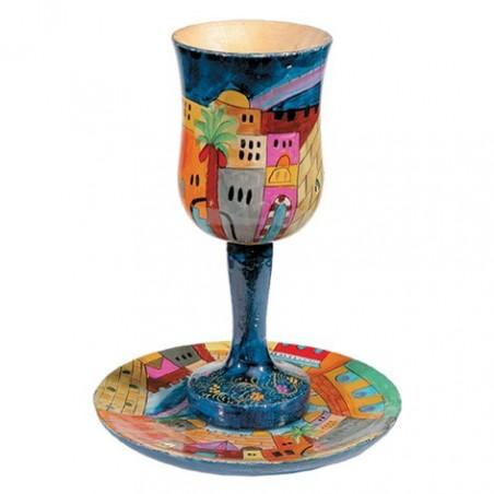 Classic Hanukkah Menorah - Bronze