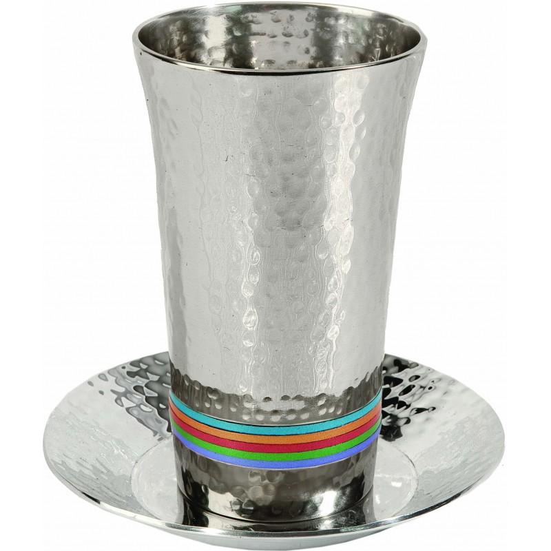 """Hanukkah Menorah - """"Sticks"""" - Aluminium Matt Shiny"""