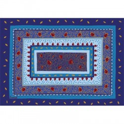 Printed Placemat- Light Blue