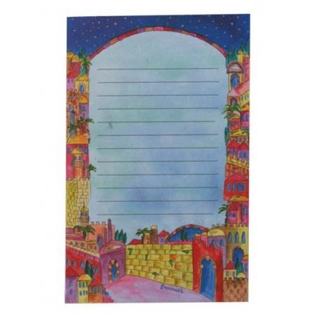 Folding Basket + Embroidery - Jerusalem Multicolor