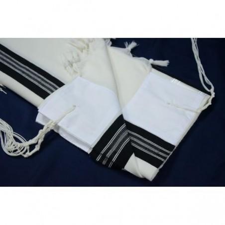 "Towel - ""Netilat Yadayim"" - ""Urhatz"" - Silver"