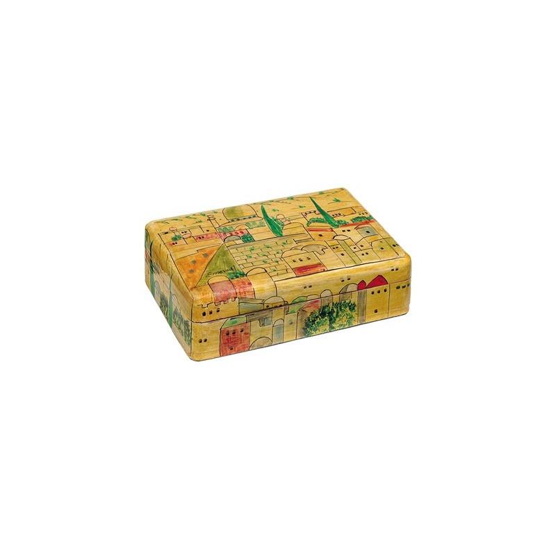 Raw Silk Applique`d Challah Cover- Pomegranates- White