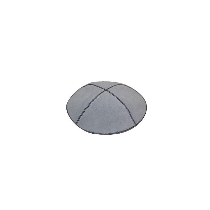 Kippa daim gris 16cm