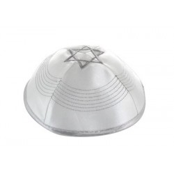 Kippah Polysilk - White