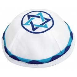 Tallit Bag - Machine Embroidery - 12 Tribes Blue
