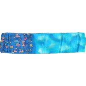 Foulard Soie Grenade Motifs Bleu