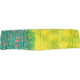 Scarf Silk Pomegranate Designs Green