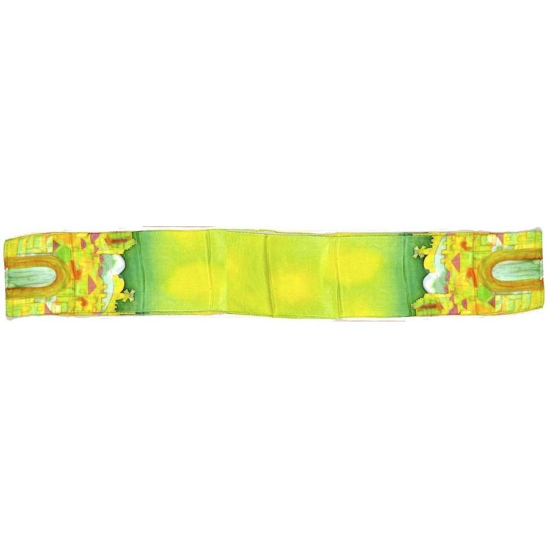 Scarf Silk Jerusalem design Green